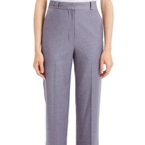 Theory Cuffed Straight-Leg Flannel Cropped Pants